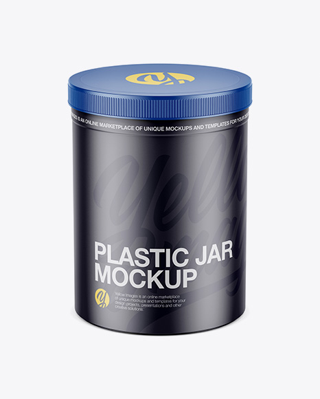 Matte Plastic Jar Mockup - High-Angle Shot