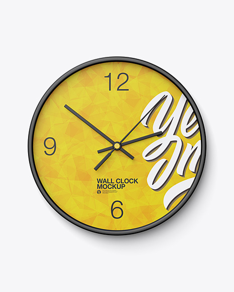 Round Wall Clock Mockup - Front View