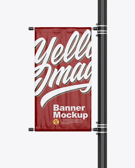 5b23b408091ce Glossy Banner on Pillar Mockup - Front View templates
