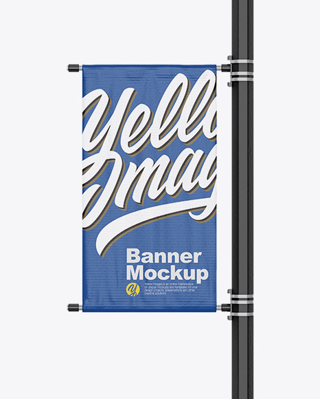5b23c55f0a24b Matte Banner on Pillar Mockup - Front View templates