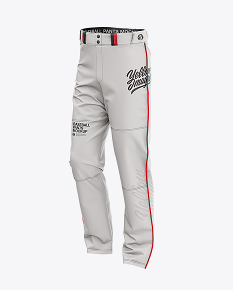 5b23d3e426c16 Fit Piped Baseball Pants - Front Half-Side View templates