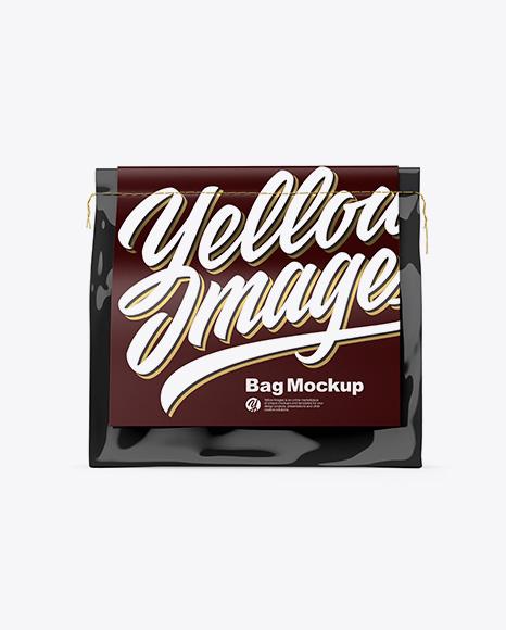Glossy Bag Mockup - Front View