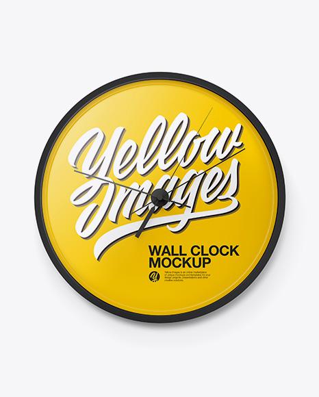 Wall Clock Mockup - Front View