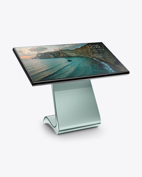 5b2614f55444c LCD Touch Screen Kiosk Mockup - Half Side View templates