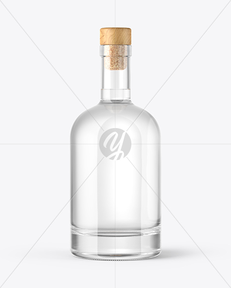 Download Clear Glass Bottle With Wax Psd Mockup Yellowimages