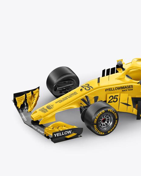 Formula-1 2018 Mockup - Half Side Left View