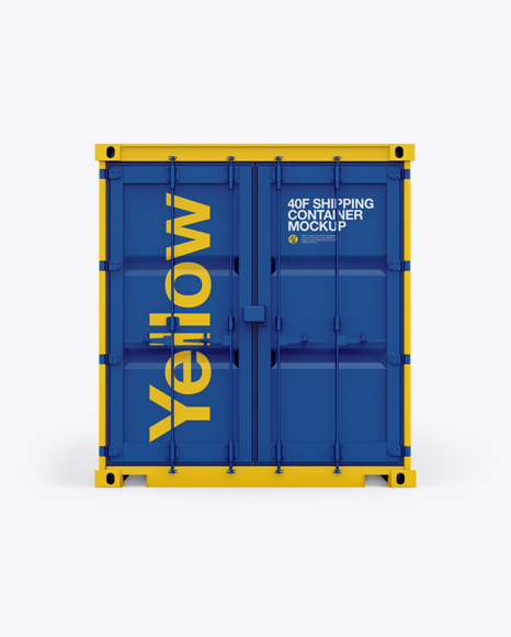40F Shipping Container Mockup - Front View