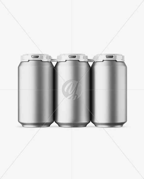 Download 12 Can Matte Pack Mockup High Angle Shot Yellowimages