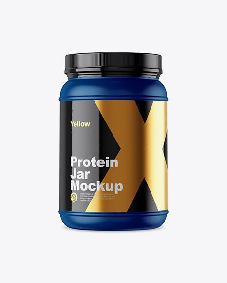 2lb Protein Jar Mockup