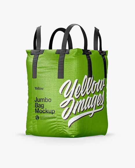 Jumbo Bag Mockup - Half Side View