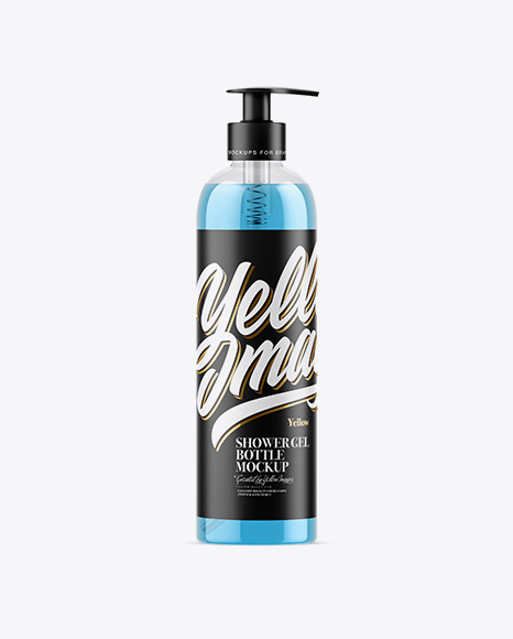 Clear Shower Gel Bottle Mockup