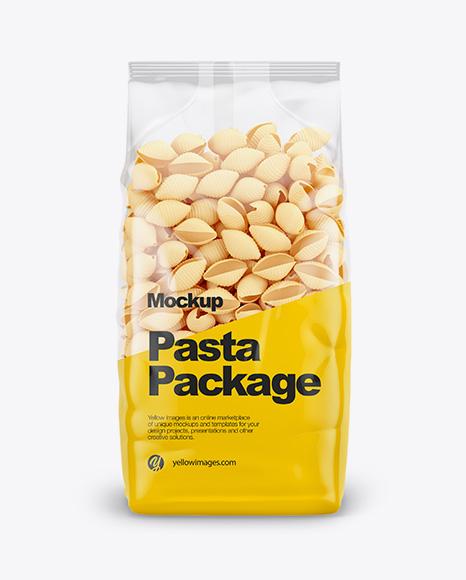 Conchiglie Pasta Mockup - Front View
