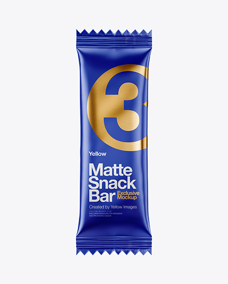 Matte Snack Bar Mockup - Front View