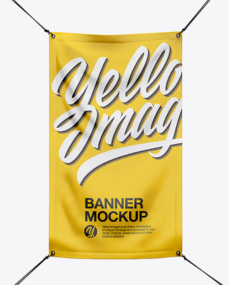 Glossy Vinyl Banner Mockup - Front View