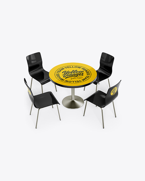 Table W/ Chairs Mockup