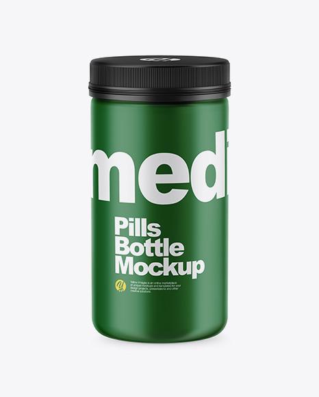 Matte Pills Bottle Mockup - High-Angle Shot