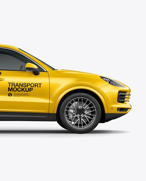 Luxury Crossover 5-doors Mockup - Side view
