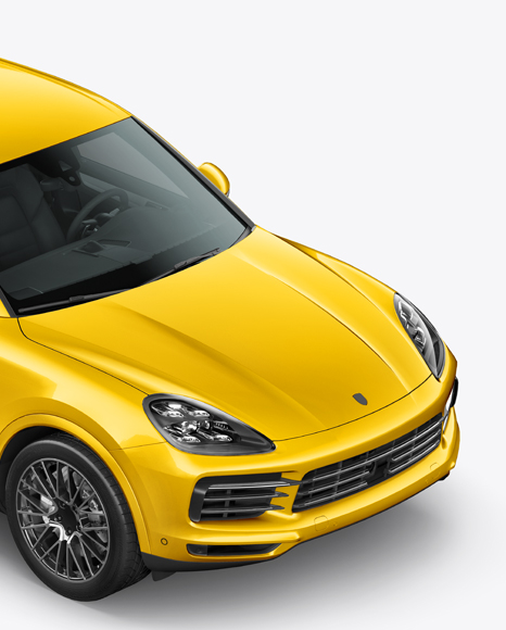 Luxury Crossover 5-doors Mockup - Half Side View (High-Angle Shot)
