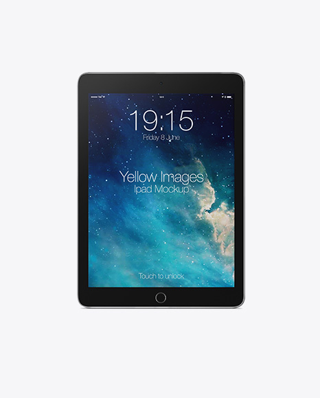 Vertical iPad Mockup - Front View
