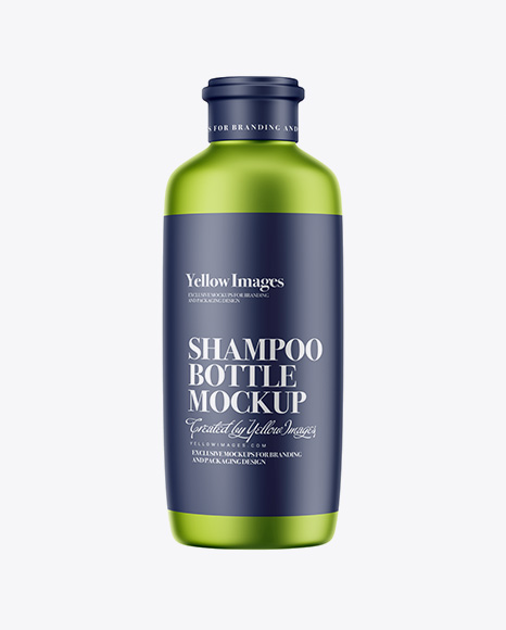 Matte Metallic Shampoo Bottle Mockup