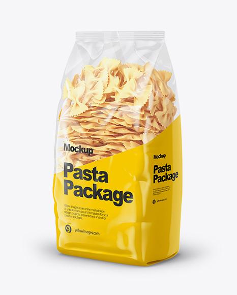Farfalle Pasta Mockup - Half Side View