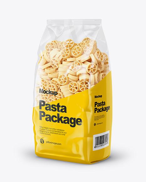 Ruote Pasta Mockup - Half Side View