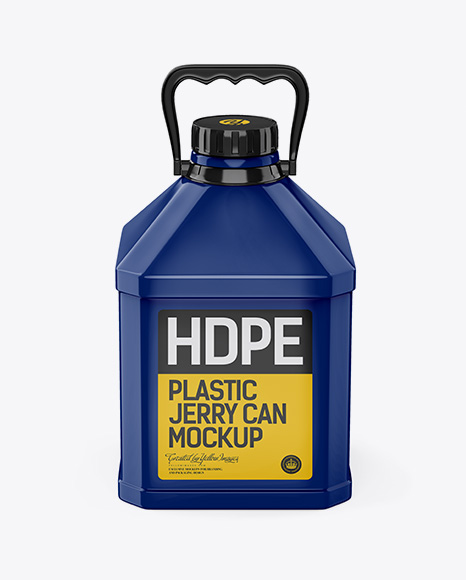 Glossy Jerrycan Mockup - Front View (High Angle Shot)