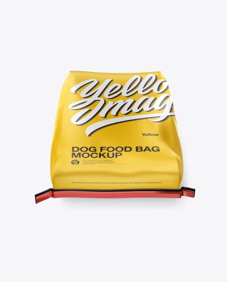 Dog Food Bag Mockup - High Angle Shot