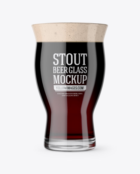 Revival Glass With Stout Beer Mockup