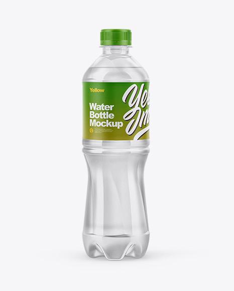 Clear Water Bottle Mockup