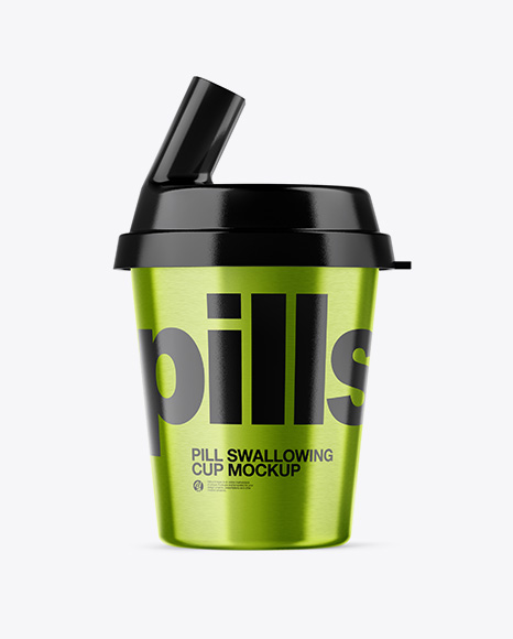 Metallic Pill Swallowing Cup Mockup