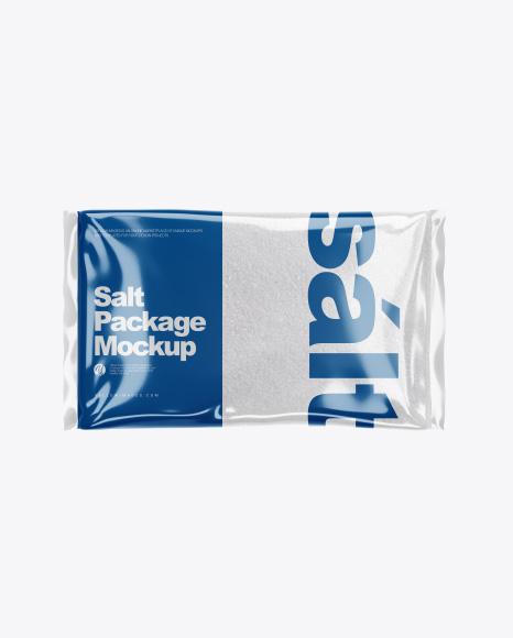 Salt Package Mockup - Top View