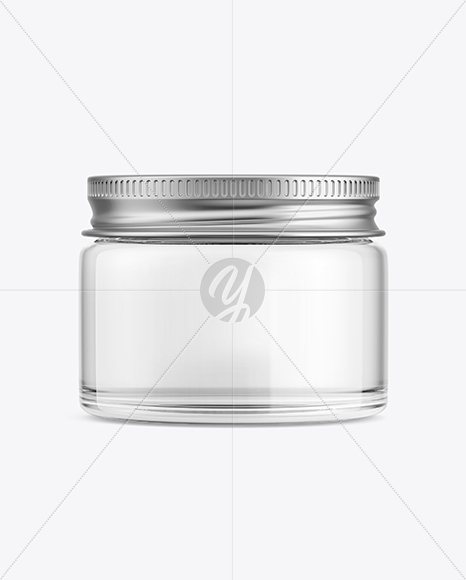 Download Clear Glass Spice Jar Psd Mockup Yellow Images