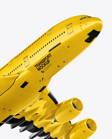 Aircraft Mockup - Half Side View
