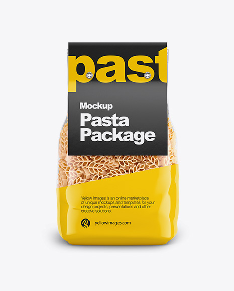 Spighe Pasta with Paper Label Mockup - Front View