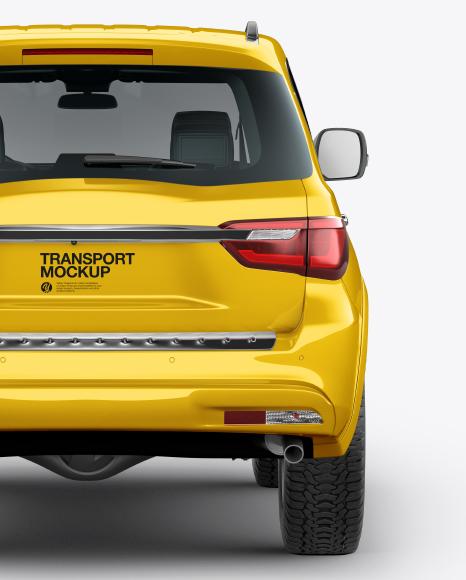 Full-Size Luxury SUV Mockup - Back View