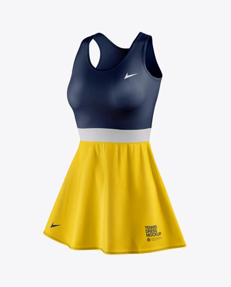 Women's Tennis Dress Mockup - Half Side View