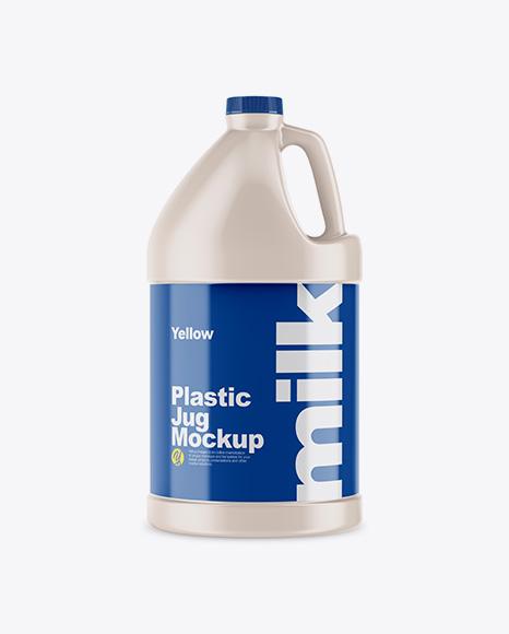 128oz Plastic Jug Mockup