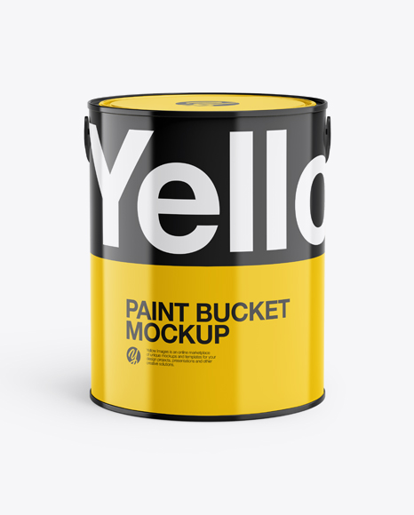 5L Glossy Paint Bucket Mockup