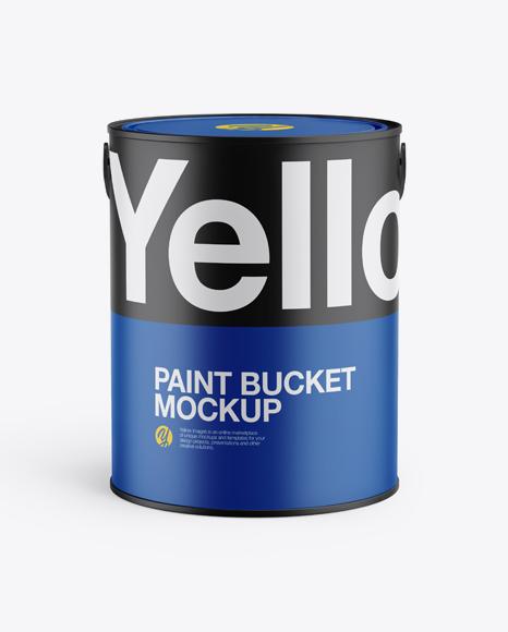 5L Matte Paint Bucket Mockup