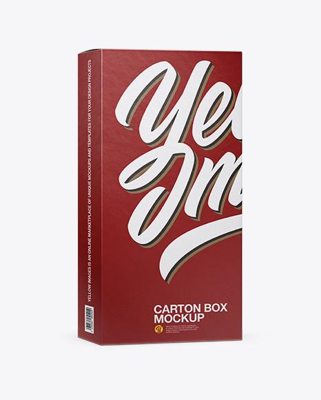 Carton Box Mockup - Half Side