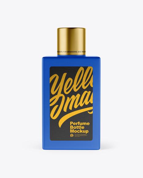 Matte Square Perfume Bottle Mockup