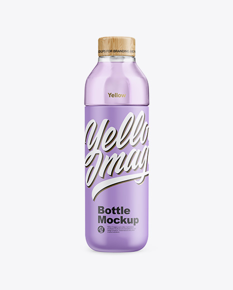 Matte Bottle With Liquid Mockup