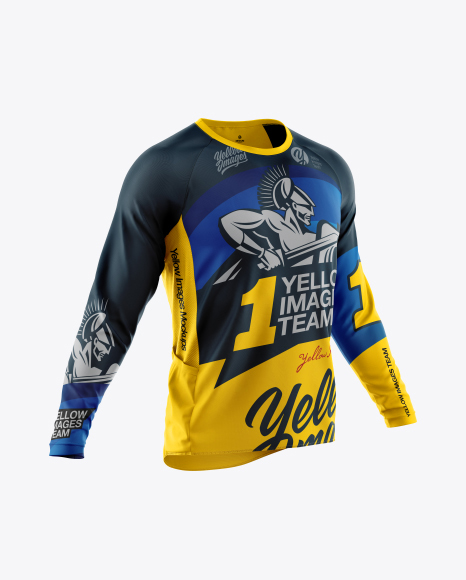 Download Men's Cycling Jersey Mockup - Half Side View in Apparel ...