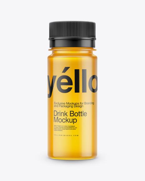 Transparent Plastc Bottle Mockup