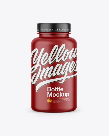 Matte Bottle Mockup - Front View