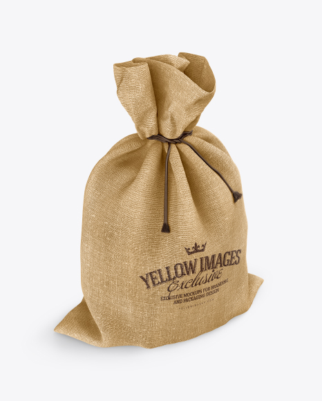Download Paper Bag Psd Mockup Half Side View Yellow Images