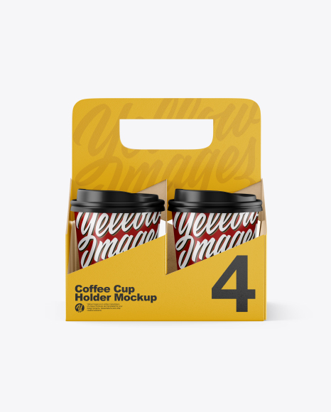 Download Matte Holder With Coffee Cups Psd Mockup Yellowimages