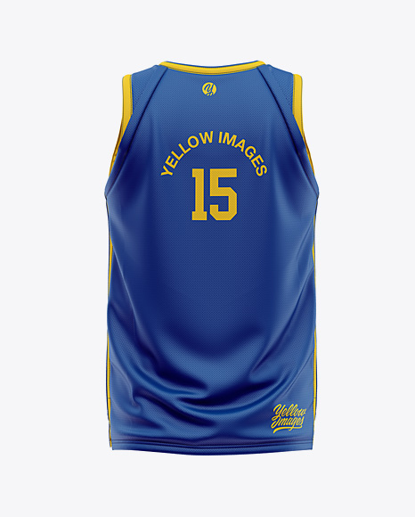 Download Men's Basketball Jersey Mockup - Back View in Apparel ...