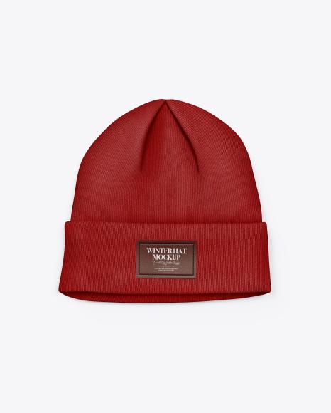 Winter Hat Mockup - Top View